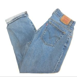 Vintage Levi's 550 High Rise Mom Jeans 14 Miss